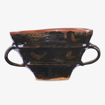 Bernard Leach, 'Two-handled bowl, tenmoku glaze, England'