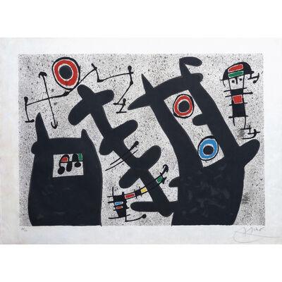 Joan Miró, 'Le lézard aux plumes d'or, planche 4', 1971