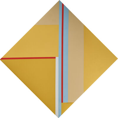 Ilya Bolotowsky, 'Yellow Diamond with Red and Blue', 1977
