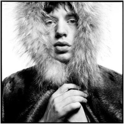 David Bailey, 'Mick Jagger fur Hood', 1964