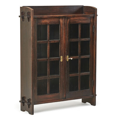 Gustav Stickley, 'Early double-door bookcase with mitered mullions, Eastwood, NY', ca. 1901