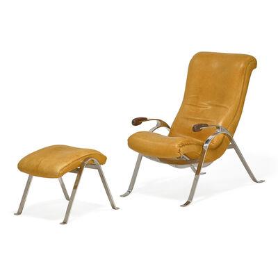 Vladimir Kagan, 'Multi-position lounge chair and ottoman, New York'