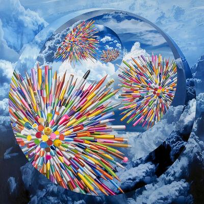 Kyoung Tack Hong, 'Pens-Six Celestial Bodies', 2014