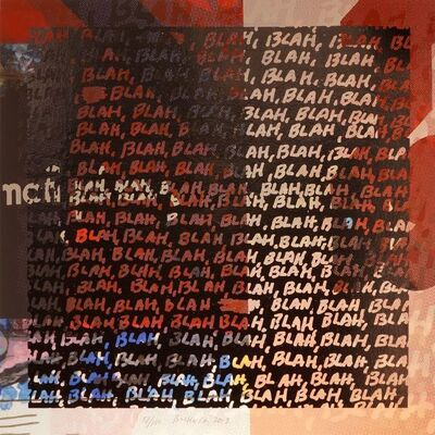 Mel Bochner, 'Blah Blah Blah & Background Noise', 2013