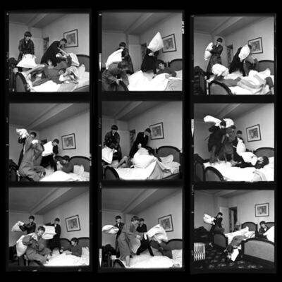 Harry Benson, 'Beatles Pillow Fight Times Nine, Paris', 1964