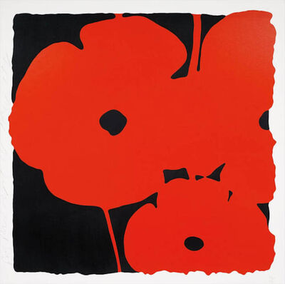 Donald Sultan, 'Big Poppies', 2014