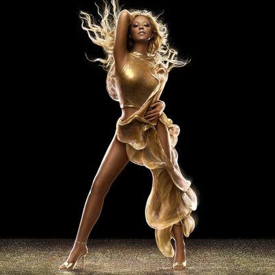 Markus Klinko, 'Mariah Carey (Gold Dress)'