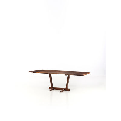 George Nakashima, 'Conoid dining table - Unique piece -Dining table with extensions', 1963