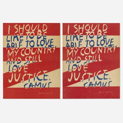 Corita Kent, 'Untitled (Camus) (two works)', 1966