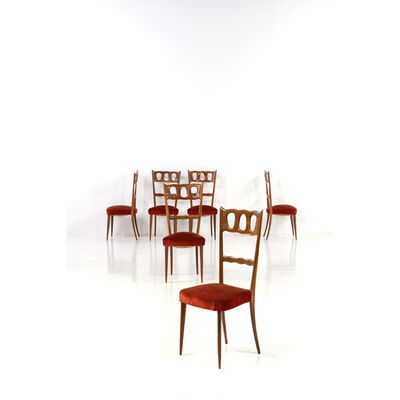 Attributed to Paolo Buffa, 'Set Of Six Chairs', Around 1950