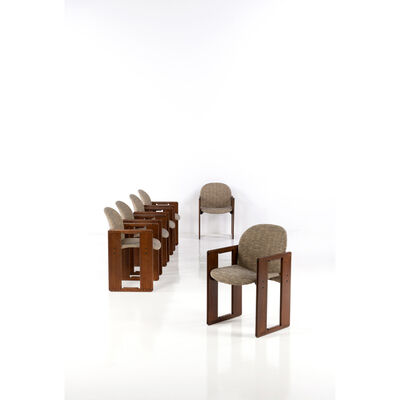 Afra and Tobia Scarpa, 'Set of six armchairs', 1974