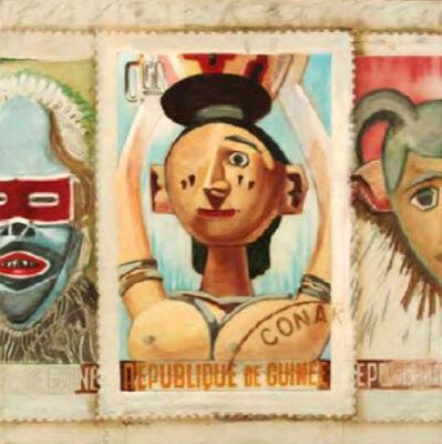 Larry Rivers, 'Patriotic Stamps', 1976