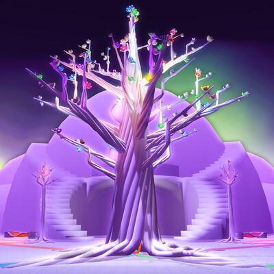 Skawennati, 'Celestial Tree : She Falls for Ages', 2017