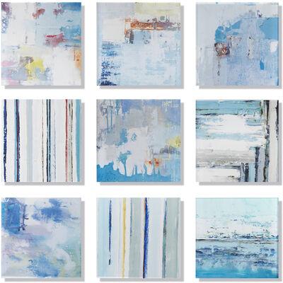 "John Schuyler, '""Vetro 0120-02"" Mixed media, abstract paintings behind acrylic tiles', 2020"