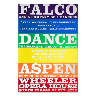 Robert Indiana, 'Falco Dance Company', 1968