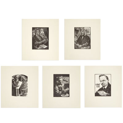 Bernard Brussel-Smith, 'GUTENBERG; WILLIAM CAXTON; BODONI; NICHOLAS JENSEN; RUDOLF KOCH', 1945-1950