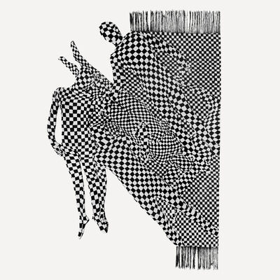 Olaf Breuning, 'Black and white people pattern', 2017