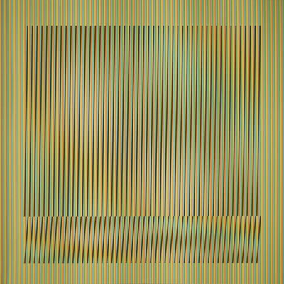 Carlos Cruz-Diez, 'Induction Chromatique a double frequence Orinoco 6', 2018