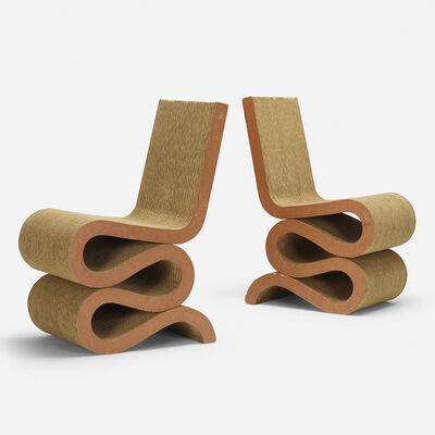 Frank Gehry, 'Wiggle chairs, pair', 1972