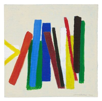 Wilhelmina Barns-Graham, 'Enter Red on Blue and Green', 2003