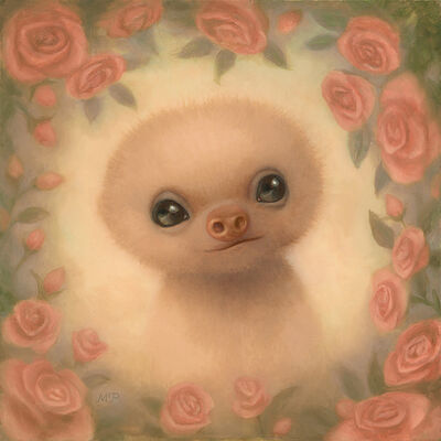 Marion Peck, 'Baby Sloth with roses', 2018