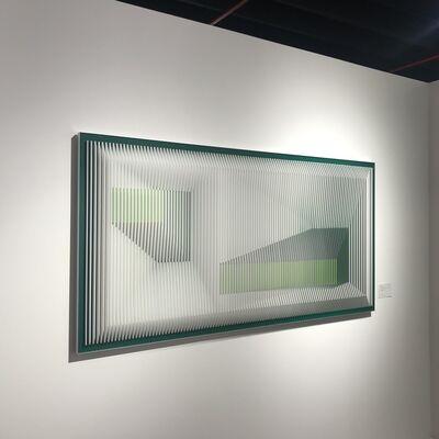 J. Margulis, 'Displcased illusion 72 WG - Kinetic wall sculpture', 2019