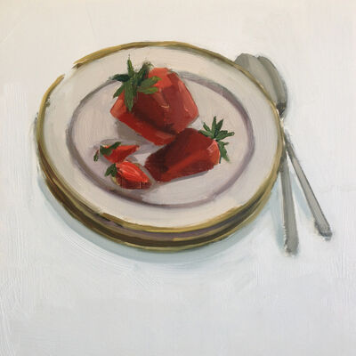 Carrie Mae Smith, 'Strawberries on a plate with spoons', 2018