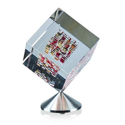 "Jon Kuhn, 'Spinning cube, ""Red Barron,"" Winston-Salem, NC', 2001"