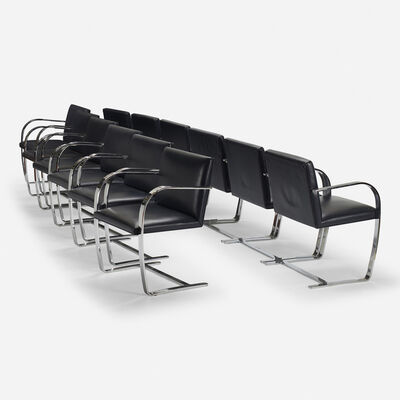 Ludwig Mies van der Rohe, 'Brno chairs, set of twelve', 1929
