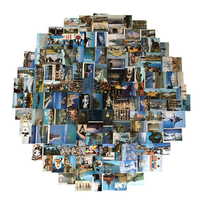 "James Vance, '""Blue Postcards""', 2018"