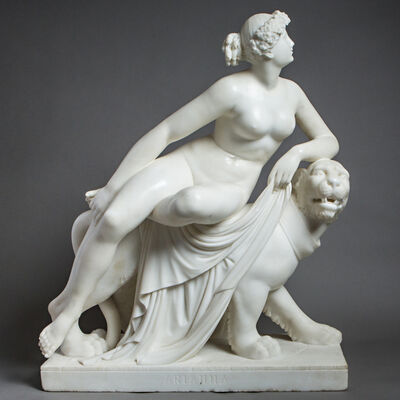 Unknown Artist, 'Marble Sculpture of Ariadne Seated on a Panther', 1800-1900