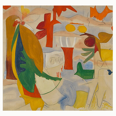 Helen Frankenthaler, 'Abstract Landscape', 1951