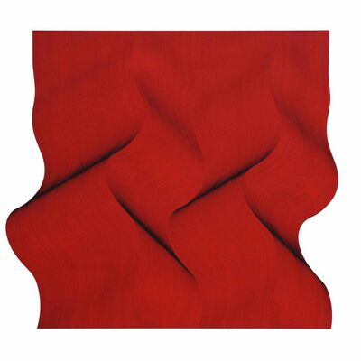 Roberto lucchetta, 'Movement in red - abstract painting', 2019