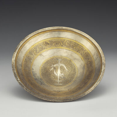 'Bowl with Anchor and Dolphin Medallion',  2nd century B.C.