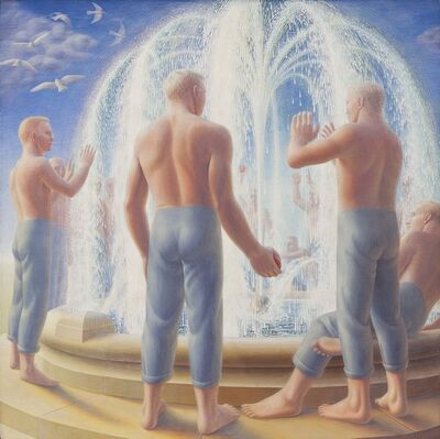 George Tooker, 'Fountain', 1950