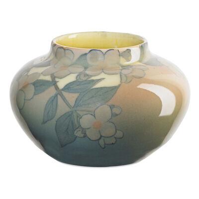 Kataro Shirayamadani, 'Ivory Jewel Porcelain vase with dogwood blossoms (uncrazed), Cincinnati, OH', 1929