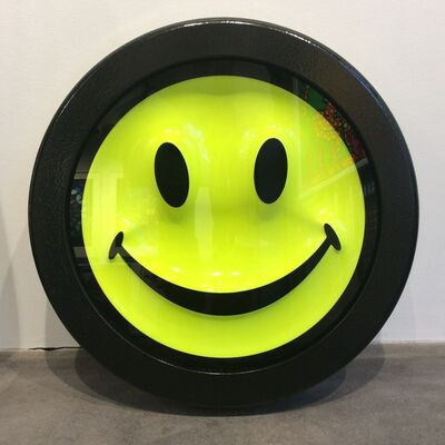 RYCA, 'Fluorescent Smiley Face (edition nearly sold out)', 2017