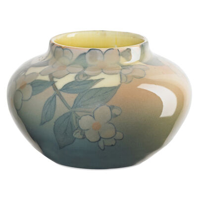Kataro Shirayamadani, 'Rookwood, Ivory Jewel Porcelain Vase With Dogwood Blossoms (Uncrazed), Cincinnati, OH', 1929