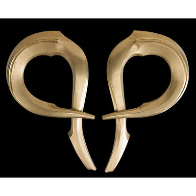 Albert Paley, 'Pair of door handles for The Willard Building (Washington D.C.), Rochester, NY', 1985