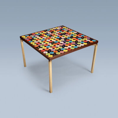 Bjørn Wiinblad, 'Rare table with decorative tiles on top and brass legs', 1960