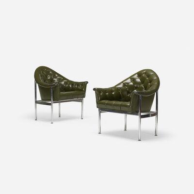 Milo Baughman, 'Lounge chairs, pair', c. 1975