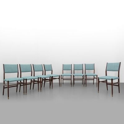 Gio Ponti, 'A set of height chairs 'CA 601' model', circa 1951