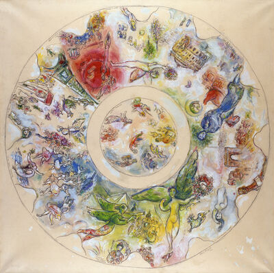 Marc Chagall, 'Final study for the ceiling of the Opera Garnier (Maquette définitive pour le plafond de l'opéra Garnier)', 1963