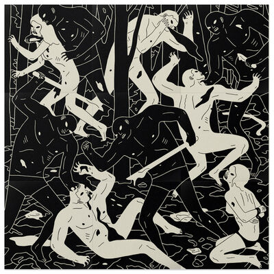 Cleon Peterson, 'Judgement (Black and White)', 2014