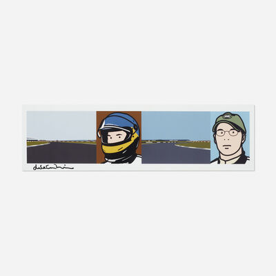 Julian Opie, 'Imagine You are Driving (Fast)', 2002