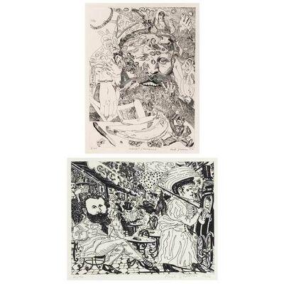 Red Grooms, 'Cafe Manet; Manet/Romance (K. 47; 52)', 1976