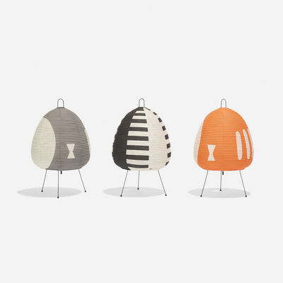 Ozeki & Co., Ltd., 'Collection of Three Akari Lamps', c. 1952
