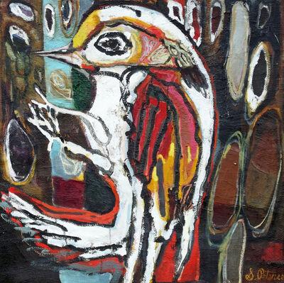 Sandra Peterson, 'Woodpecker with Tree', 2016