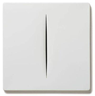 Lucio Fontana, 'Concetto Spaziale (Bianco)', 1968