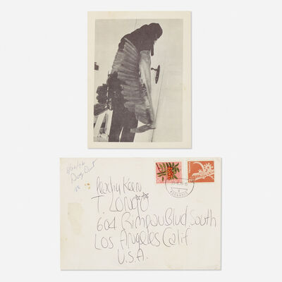 James Lee Byars, 'letter mailed to Tommy Longo', 1976